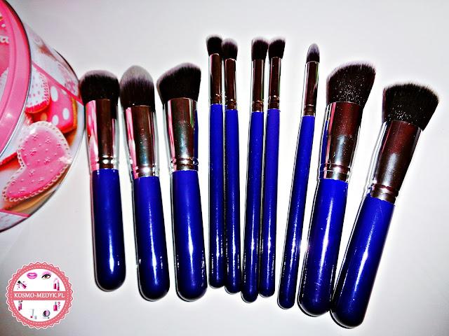 Born Pretty Store, zestaw 10 pędzli do makijażu.