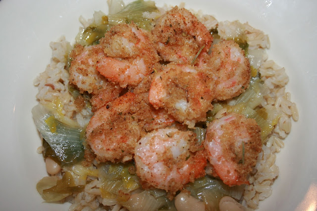 shrimp escarole and beans