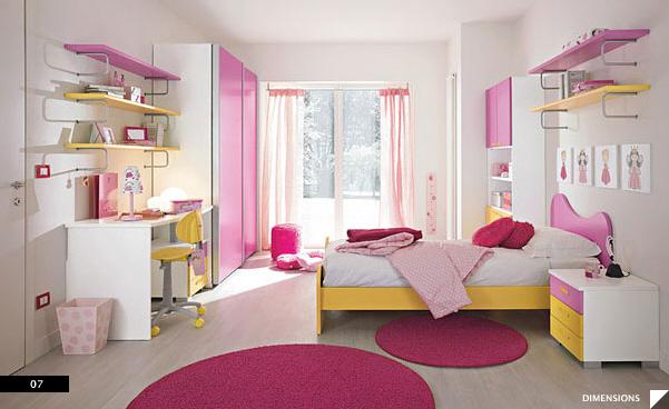 contoh desain kamar tidur perempuan minimalis cantik