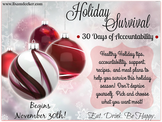 Avoid Thanksgiving Weight Gain, Healthy Holiday Tips, Meal Planning, Healthy Thanksgiving Recipe, Health and Fitness Online Support, Tips to staying healthy over the holidays, Successfully Fit,  Lisa Decker, Holiday Survival