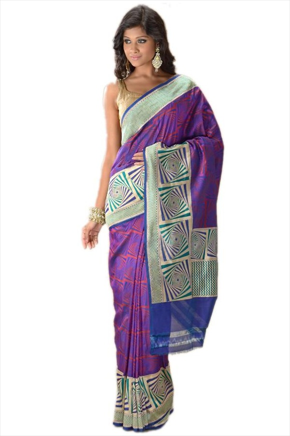True Blue Kattan Silk Banarasi Saree