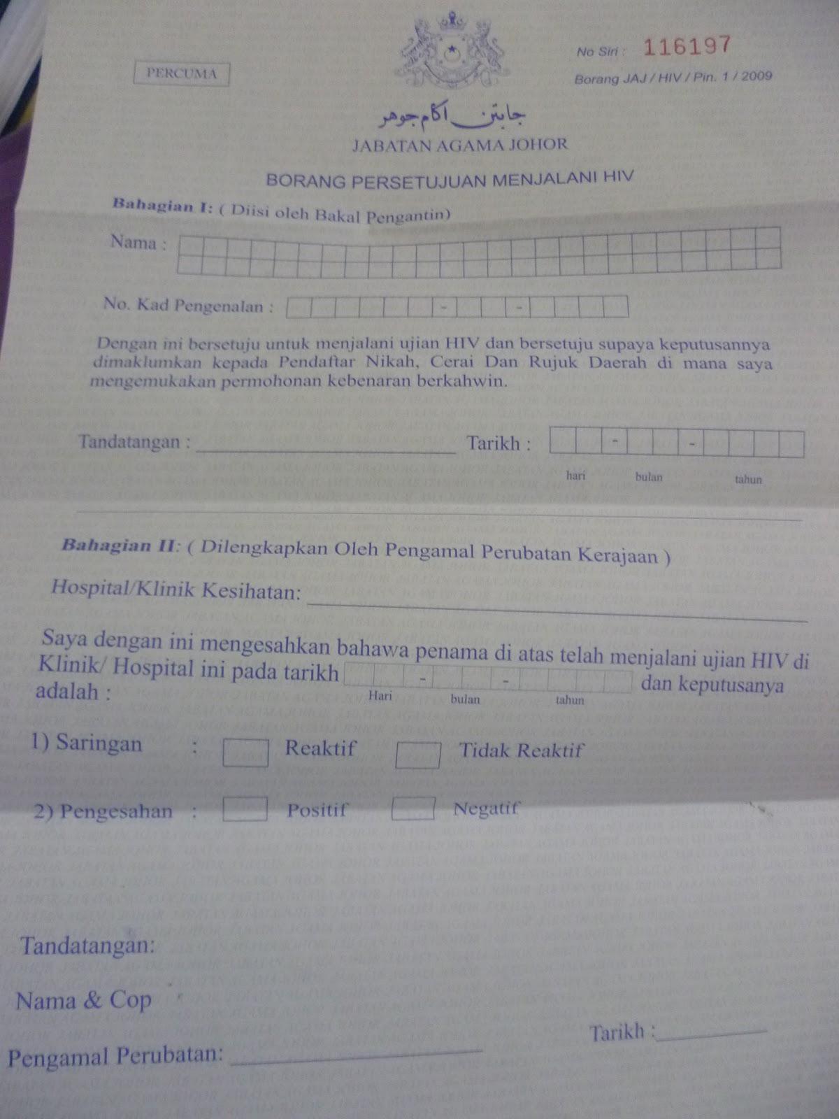14 Contoh Surat Nikah Johor Pdf Doc Zip
