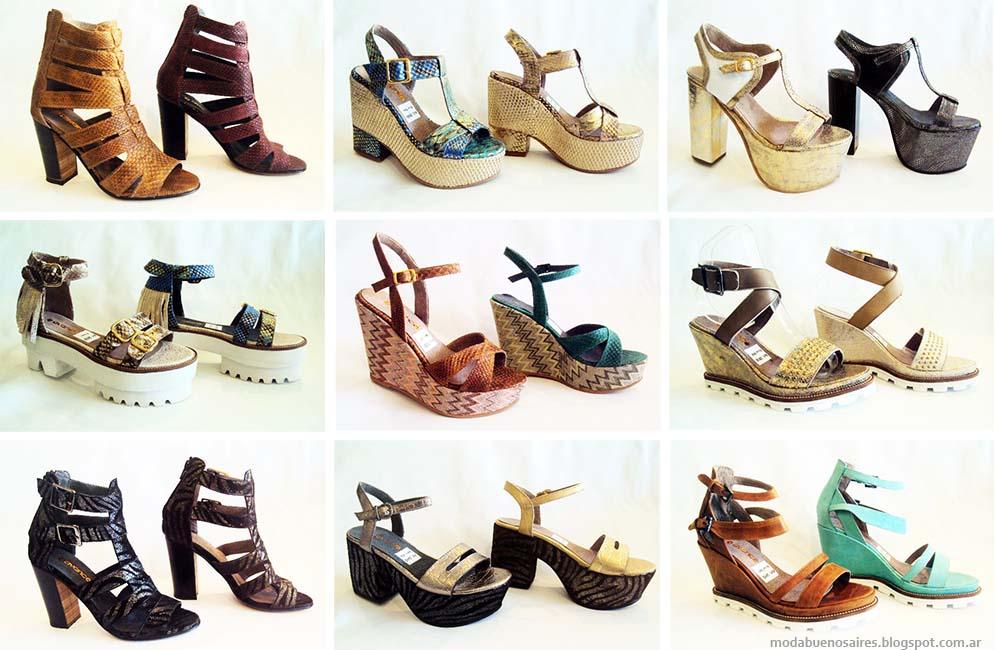 Sandalias primavera verano 2015. Moda 2015 Calzado Femenino Avance Collection.