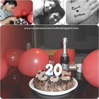 festa de aniversário para o namorado