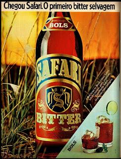 propaganda bitter Safari da Bols - 1976.  década de 70. os anos 70; propaganda na década de 70; Brazil in the 70s, história anos 70; Oswaldo Hernandez;
