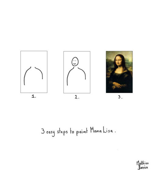 Funny 3 Easy Steps To Paint Mona Lisa Picture