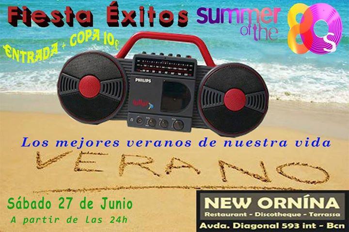 Flyer Fiesta Éxitos Summer 80