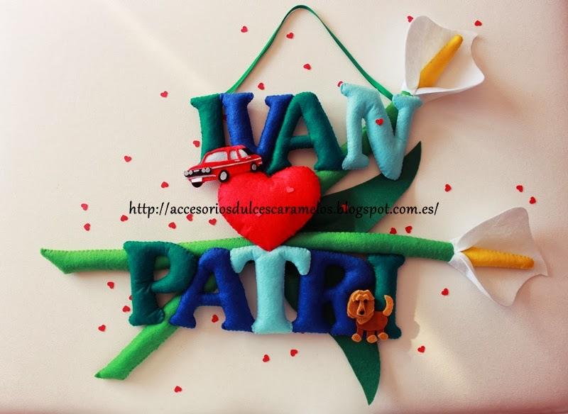nombre fieltro ivan y patri