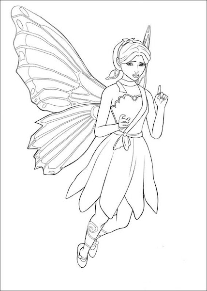 Barbie Coloring Pages to Print for Kids