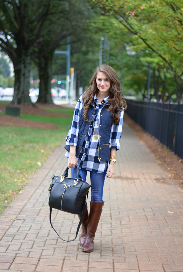 Southern Curls & Pearls Puffer Vest