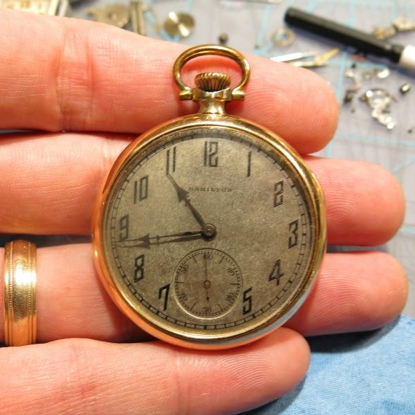 Vintage hamilton pocket watches