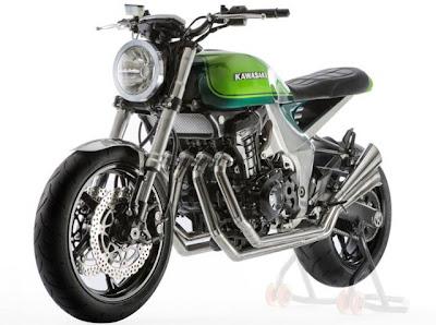 Kawasaki Z1000 40º Aniversario estilo retrô