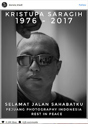 Sang Fotografer Legenda Indonesia (Kristupa Saragih) Berpulang