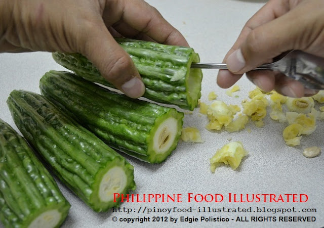 how to clean and cut ampalaya