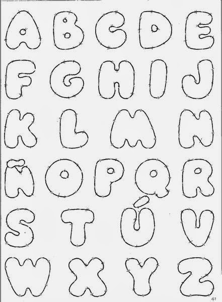 Abecedario de letras para letreros - Imagui