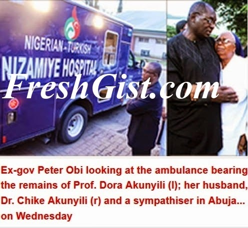 Dora Akunyili's Corpse Arrives Nigeria From India In Private Jet