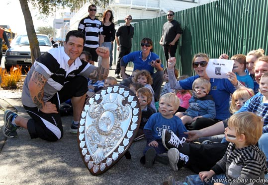 Karl Lowe - Parade in Hastings for the Hawke's Bay Magpies rugby team, followed by a mayoral reception, civic reception at Civic Sqaure. Winners of the Ranfurly Shield, after beating Otago 20-19 in Dunedin on Sunday photograph