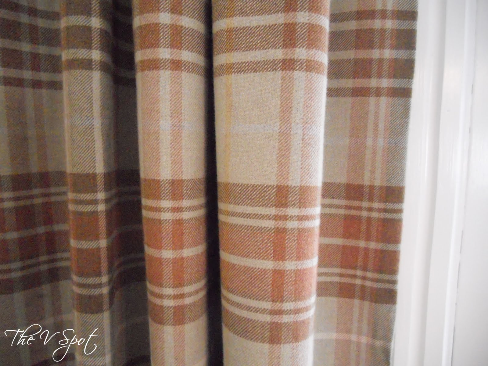 Brown plaid curtain panels -  I Dropped The Ball During The Winter And Never Got Around To Doing This For Christmas These 2 Panels Flank The Slider In My Dining Room