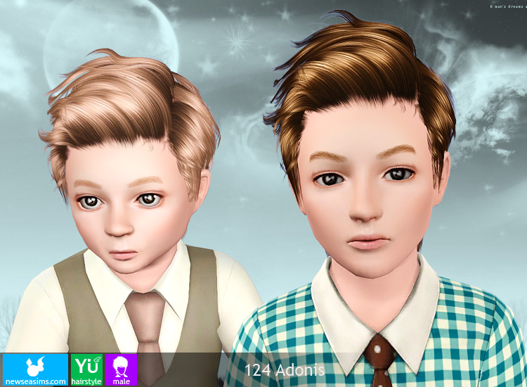 My Sims 3 Blog Newsea Adonis Hair For Males