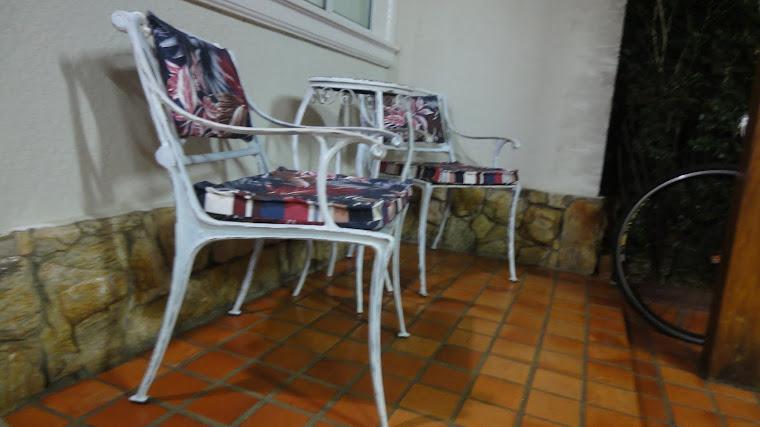 Cadeira de ferro pátina branco