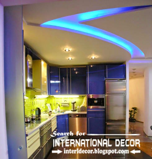 Modern Kitchen Ceiling Designs Ideas Tiles Lights Plaster Led