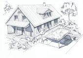 Skizze von Jean-Marc Fortenbach