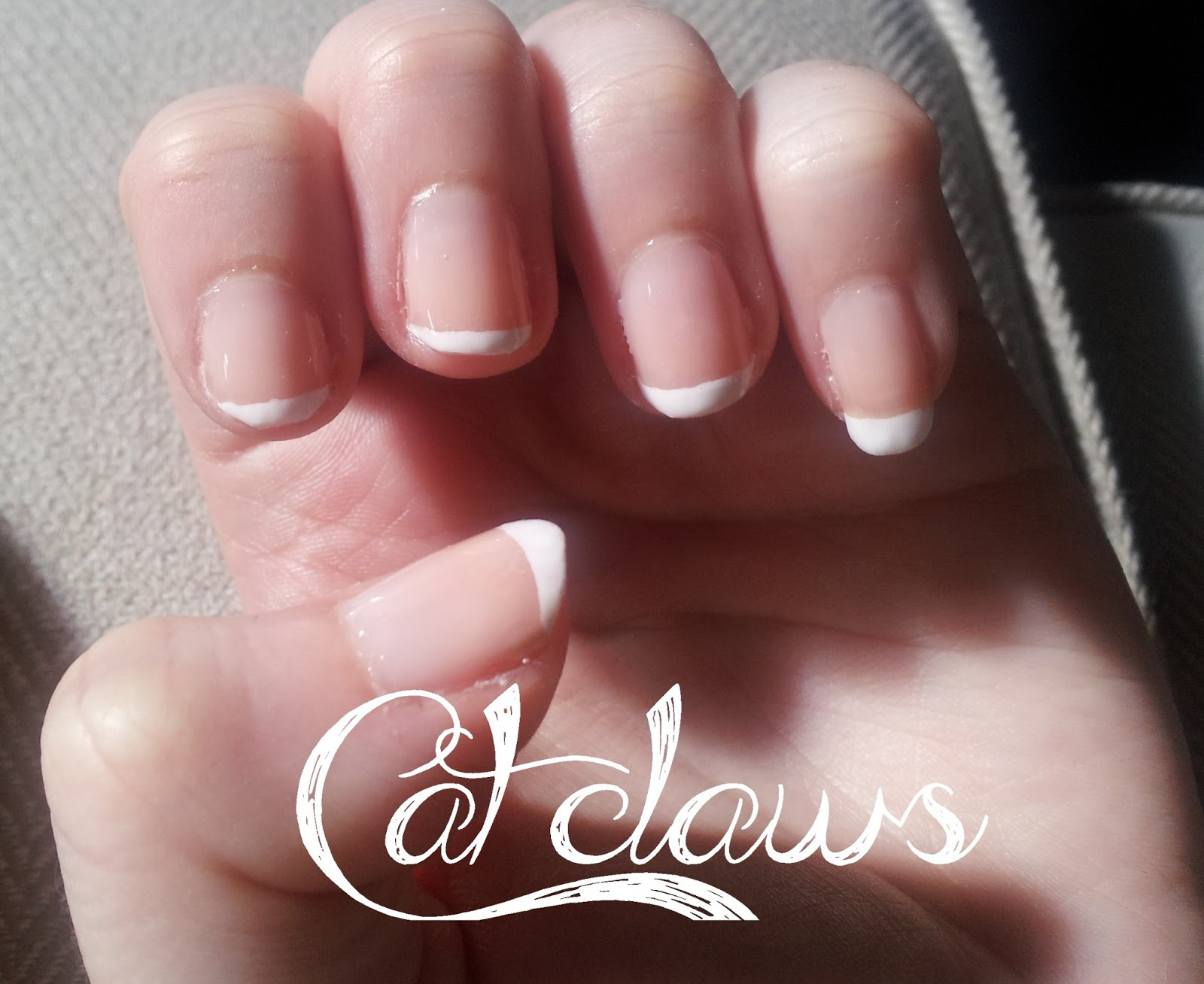 Cat Claws: Simple French Manicure Tutorial