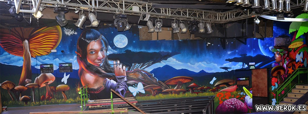 Graffiti discoteca Bora Bora Sabadell