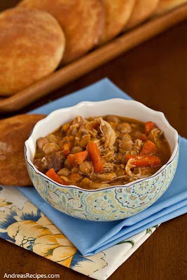 Slow Cooker Chicken Tagine with Chickpeas and Root Vegetables