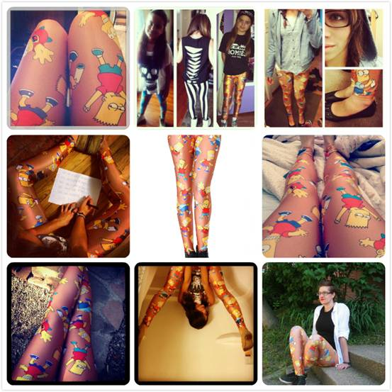 romwe simpsons leggings, street style