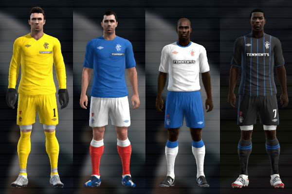 PES 2012 Rangers FC 2012/13 Kits by Mario88