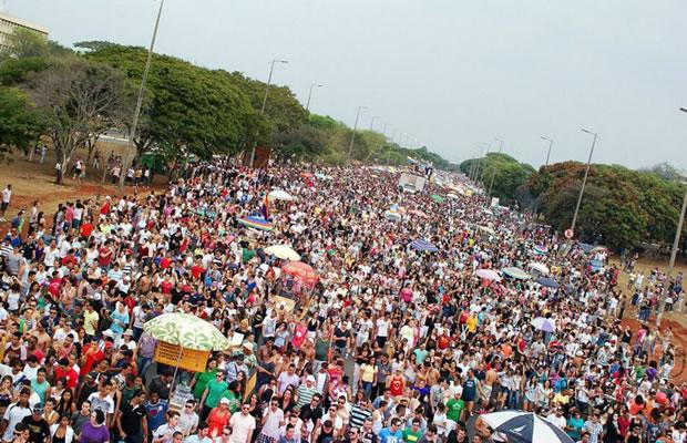 Batalhão da Polícia Militar calculava que havia 30 mil pessoas no evento (Foto: Agência Brasil)