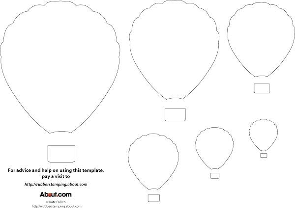 Hot Air Balloon Template Printable Free