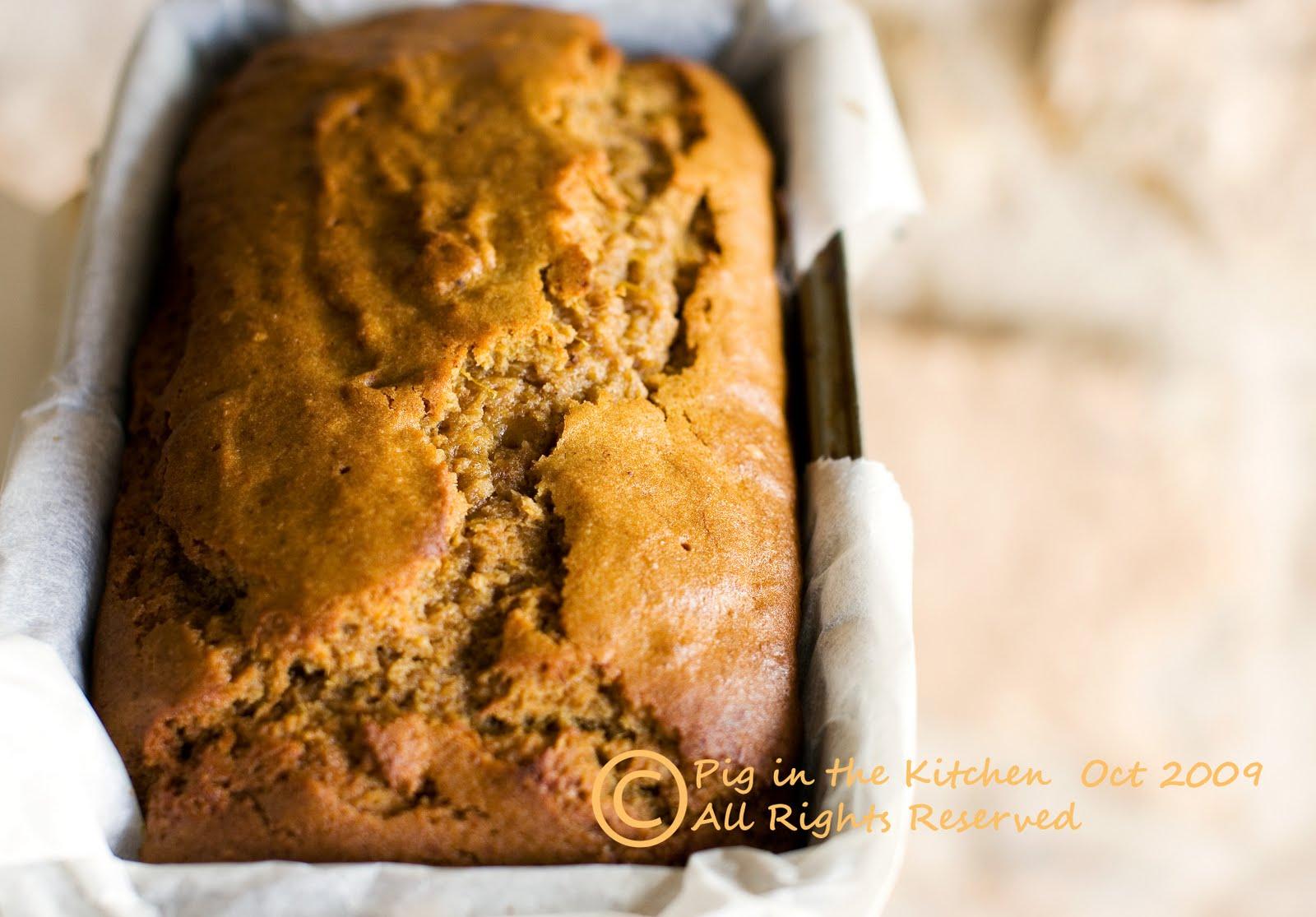 gluten free pumpkin bread, egg free pumpkin bread