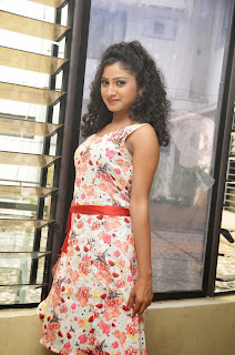 Actress Vishnu Priya Latest Pictures in Short Dress at Nenu Naa Friends Movie Press Meet  27.JPG