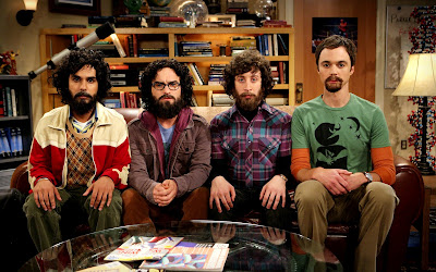 The Big Bang Theory Funny Looking Characters with Beard HD Desktop Wallpaper
