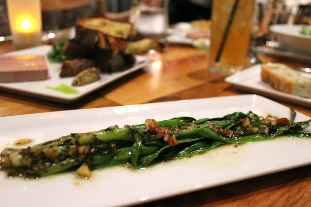 Grilled scallions at Catalyst, Cambridge, Mass.