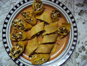 mung tofu spring rolls : mung ka cheela with a twist ....