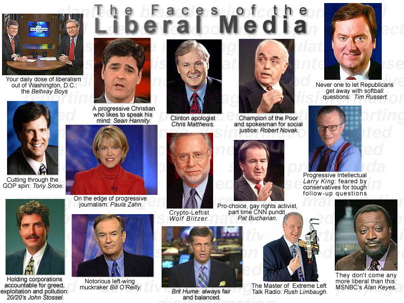liberal media There is a liberal media, its impossible in america to not have anyone in the media who isnt liberal however, news shows such as fox news, cnn, cbs , etc, however many liberals are actually working on the show, we mustn't forget that the ones who own the companies, and ultimately control what goes on the air, are extremely wealthy christian.