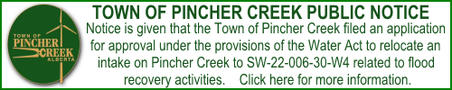 Town Water Act notice