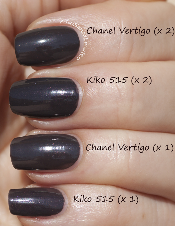 Kiko 515 vs Chanel Vertigo