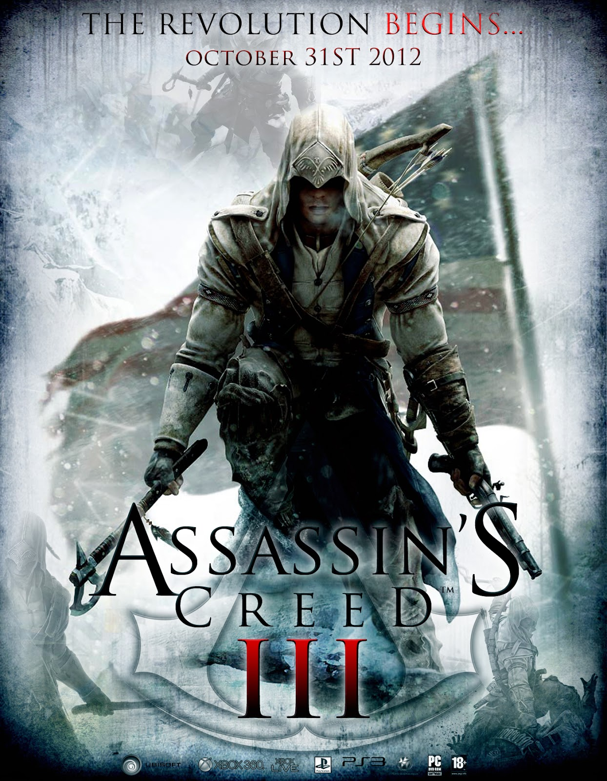 assassins creed 3 poster analysis unit 18 advertising production. Black Bedroom Furniture Sets. Home Design Ideas
