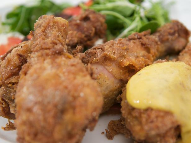 My Favorite Things: Blue Corn Fried Chicken with Malt Vinegar Aioli