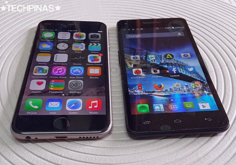 O+ Air vs Apple iPhone 6