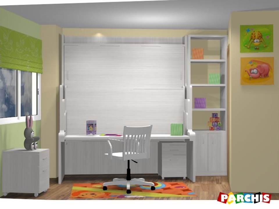 Muebles juveniles dormitorios infantiles y habitaciones - Literas con escritorio debajo ...
