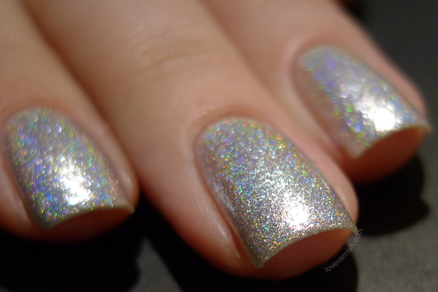 F.U.N Lacquer Bling It On silver foil holographic
