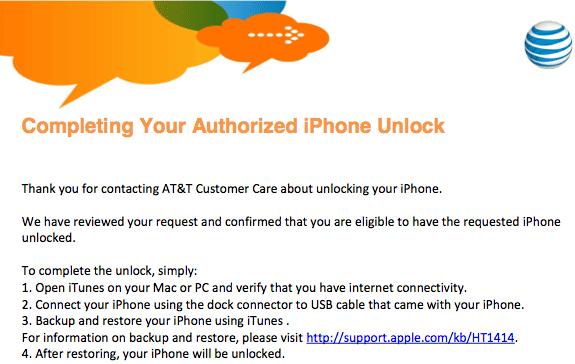 iPhone 4 factory Unlock