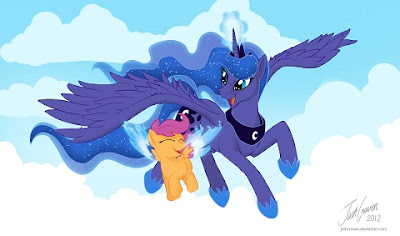 Huzzah! The wings have been doubled! Luna lends magic, makes all complete!