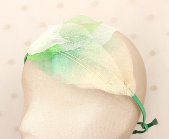 Colección Hojas - Tiara verde
