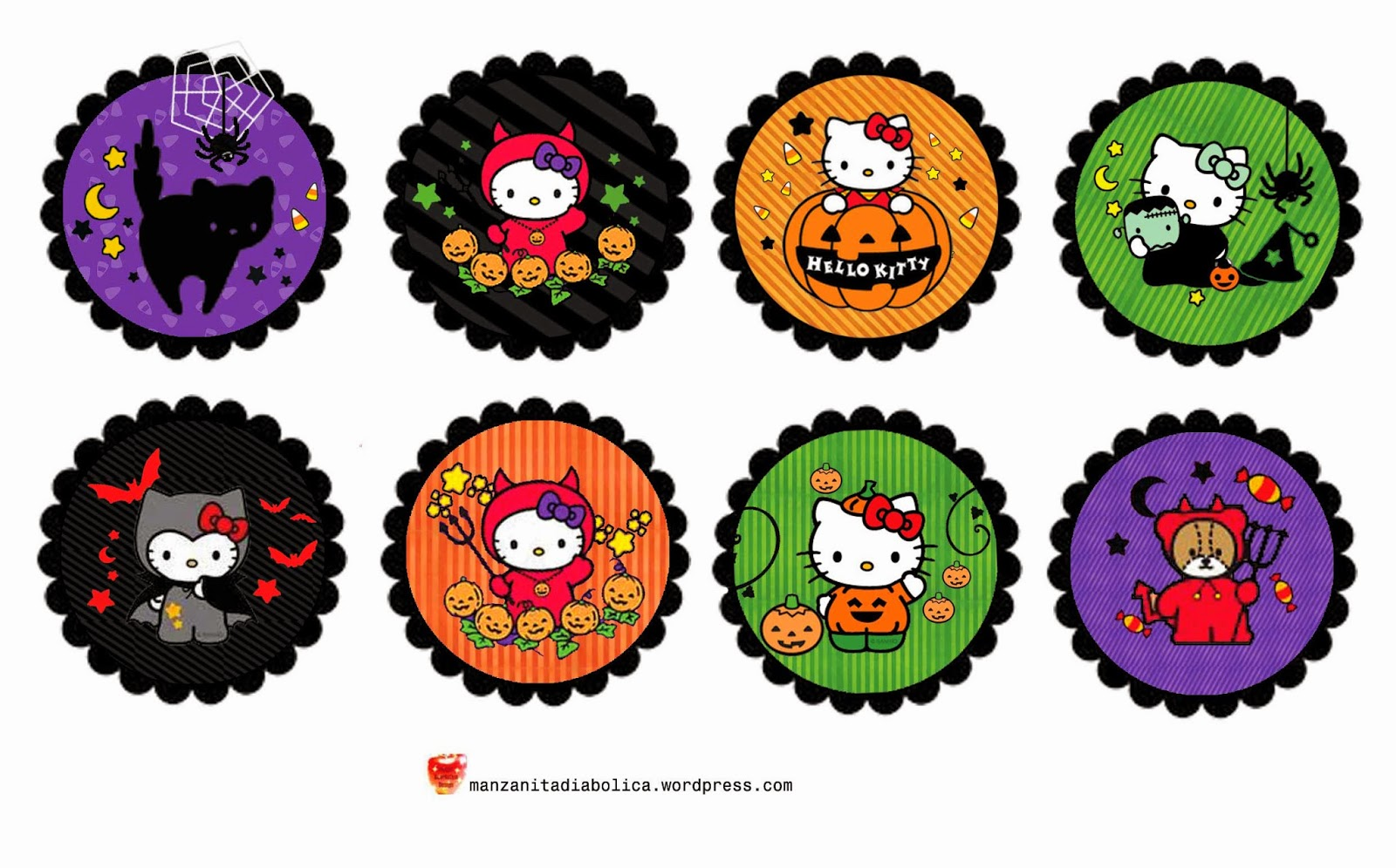 hello kitty hello kitty halloween para imprimir